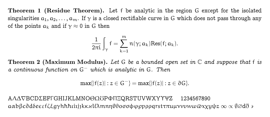 A Survey of Free Math Fonts for TeX and LaTeX1
